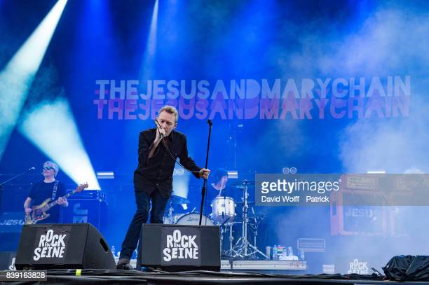 Jim Reid from The Jesus and Mary Chain performs at Domaine National de SaintCloud on August 25 2017 in Paris France
