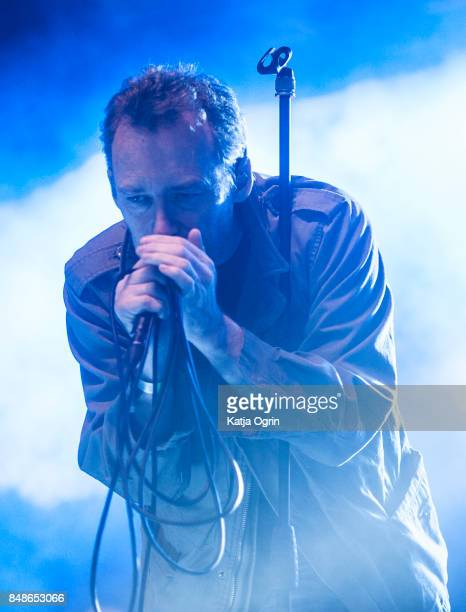 Jim Reid of The Jesus and Mary Chain performing on stage at Beyond The Tracks Festival on September 17 2017 in Birmingham England