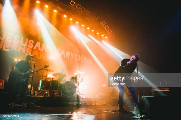 Jim Reid of The Jesus and Mary Chain performs live on stage at O2 ABC Glasgow on September 23 2017 in Glasgow Scotland