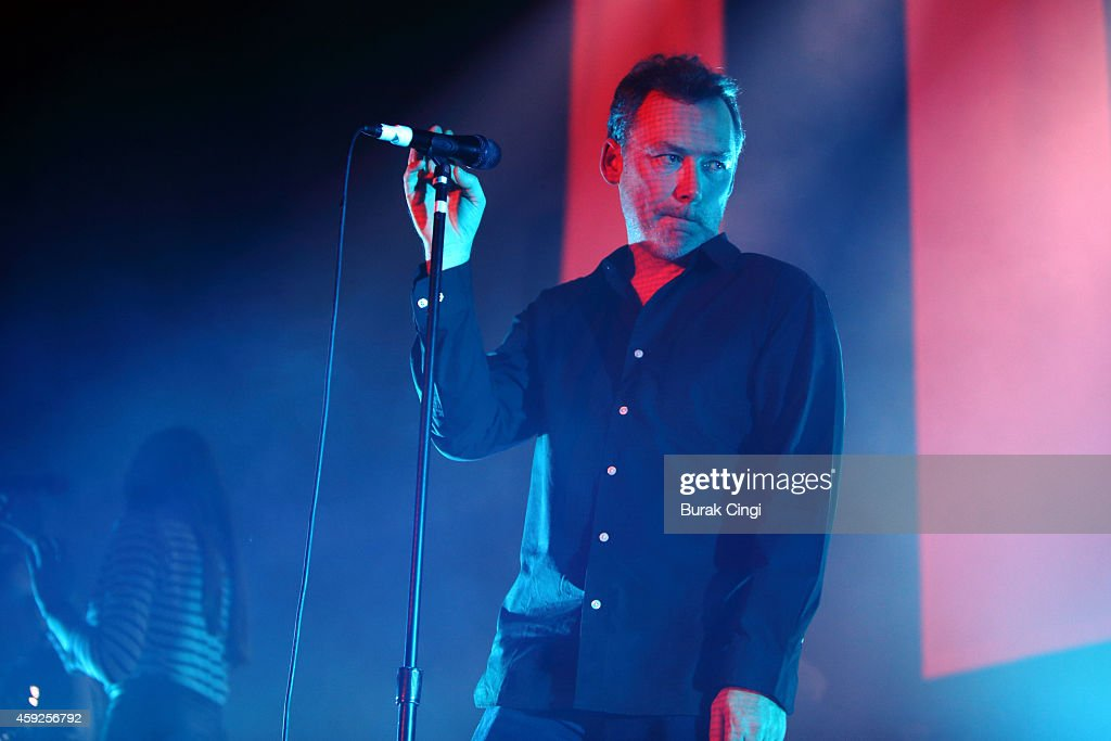 Jim Reid of The Jesus and Mary Chain performs on stage at the Troxy on November 19 2014 in London United Kingdom