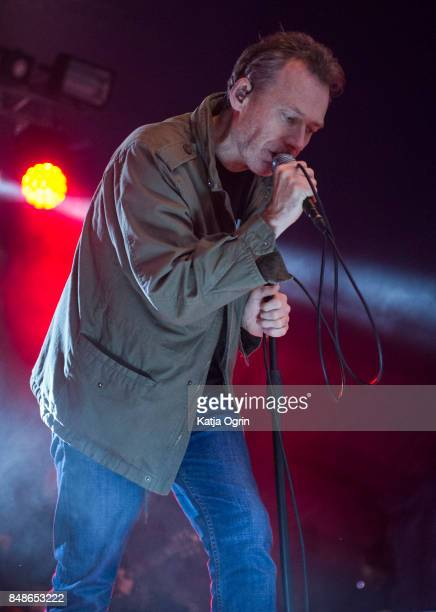 Jim Reid of The Jesus and Mary Chain performs performing on stage at Beyond The Tracks Festival on September 17 2017 in Birmingham England