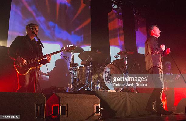 Jim Reid William Reid Phil King and Mark Crozer of The Jesus Mary Chain perform the LP Psychocandy on stage at the Guild Of Students on February 16...