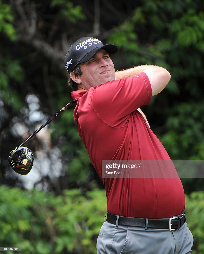 Jim Renner hits a drive on the fourth hole during the third round of the Colombia Championship at Country Club de Bogota on March 2, 2013 in Bogota, Colombia.