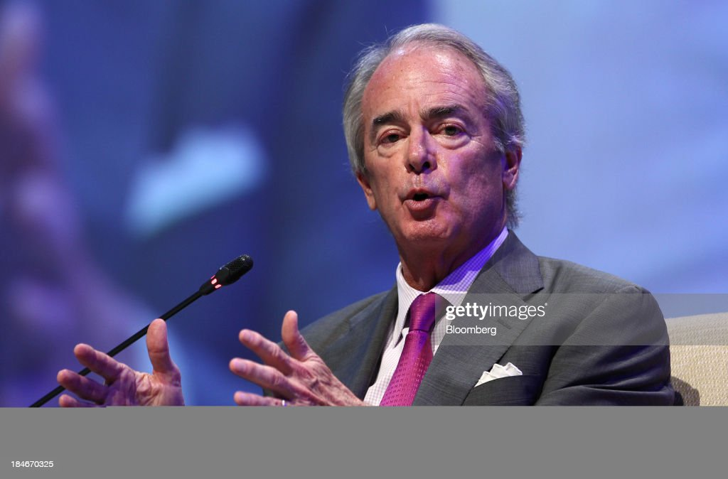 Jim Rogers chairman president and chief executive officer of Duke Energy Corp gestures as he speaks during the 22nd World Energy Congress in Daegu...
