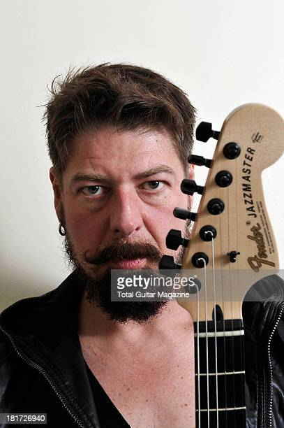 Jim Root of American alternative metal band Stone Sour photographed during a portrait shoot for Total Guitar Magazine December 14 2012