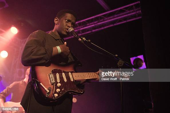 Jim Rubaduka from Mosa Wild opens for Maggie Rogers at Le Point Ephemere on February 24 2017 in Paris France