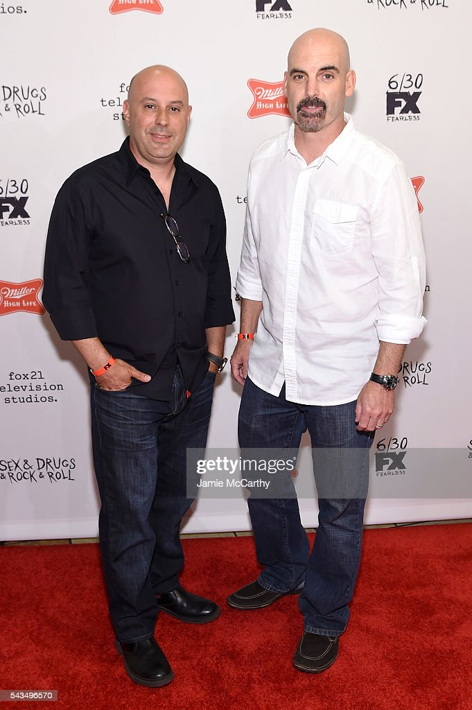 Jim Serpico and Tom Sellitti attend the 'Sex&Drugs&Rock&Roll' Season 2 Premiere at AMC Loews 34th Street 14 theater on June 28, 2016 in New York City.