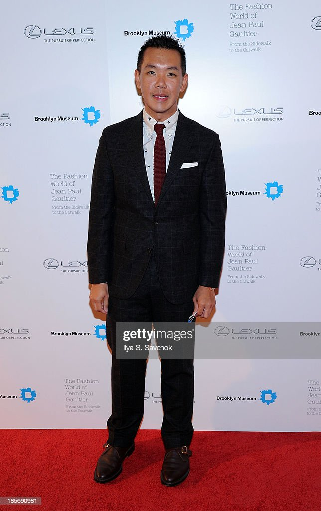 Jim Shi attends the VIP reception and viewing for The Fashion World of Jean Paul Gaultier: From the Sidewalk to the Catwalk at the Brooklyn Museum on October 23, 2013 in the Brooklyn borough of New York City.