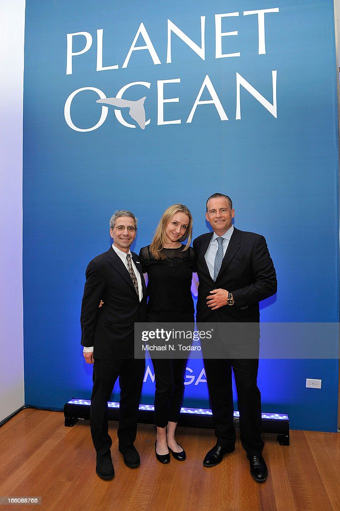 Jim Simon President of Oceana, <a gi-track='captionPersonalityLinkClicked' href=/galleries/search?phrase=Alexandra+Cousteau&family=editorial&specificpeople=2977470 ng-click='$event.stopPropagation()'>Alexandra Cousteau</a> and Gregory Swift President of Omega attend Omega At The Oceana Ball at Christie's on April 8, 2013 in New York City.