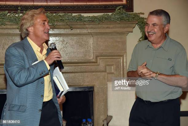 Jim Steyer and Thomas L Friedman at an Evening With Thomas L Friedman and Common Sense Media on October 15 2017 at the Bel Air Bay Club in Pacific...