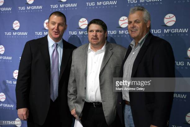 Jim Thome John Kruk and Bob Boone during Country Takes New York City Presents Tug McGraw Foundation Fundraiser at Gotham Hall in New York City New...