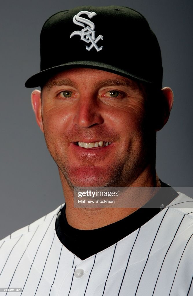 Jim Thome of the Chicago White Sox poses for a portrait during photo day at Tucson Electric Park in Tucson, Arizona on February 25, 2008.