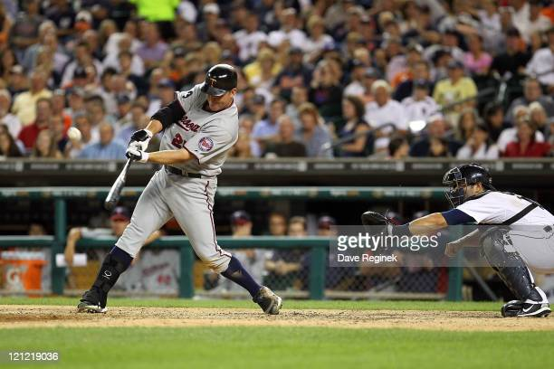 DH Jim Thome of the Minnesota Twins hits his second home run of the game in the seventh inning and his 600th career home run making him only the...
