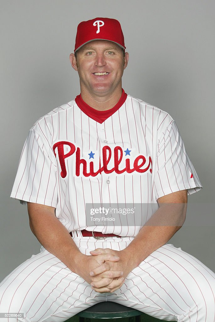 Jim Thome of the Philadelphia Phillies poses for a portrait during photo day at Bright House Networks Field on February 24, 2005 in Clearwater, Florida.