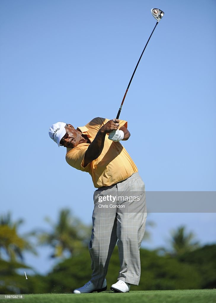 KA'UPULEHU-KONA, HI - JANUARY 18: Jim Thorpe plays from the second tee during the first round of the Mitsubishi Electric Championship at Hualalai Golf Club on January 18, 2013 in Ka'upulehu-Kona, Hawaii.