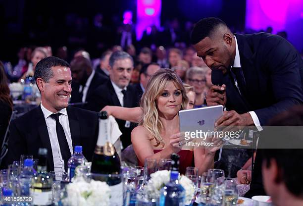 Jim Toth Actress Reese Witherspoon and Host Michael Strahan attend the 20th annual Critics' Choice Movie Awards at the Hollywood Palladium on January...