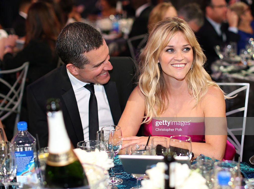 Jim Toth and actress Reese Witherspoon attend the 20th annual Critics' Choice Movie Awards at the Hollywood Palladium on January 15 2015 in Los...