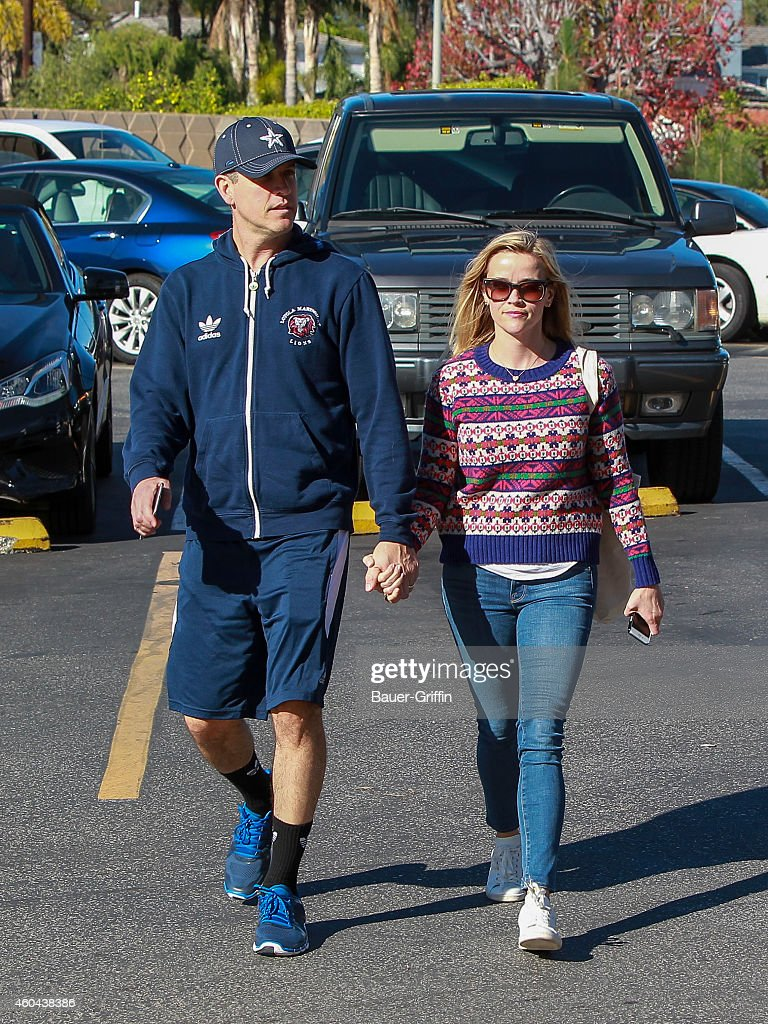 Jim Toth and Reese Witherspoon are seen on December 13 2014 in Los Angeles California