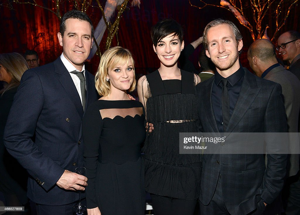 Jim Toth Reese Witherspoon Anne Hathaway and Adam Shulman attend The Great American Songbook event honoring Bryan Lourd at Alice Tully Hall on...
