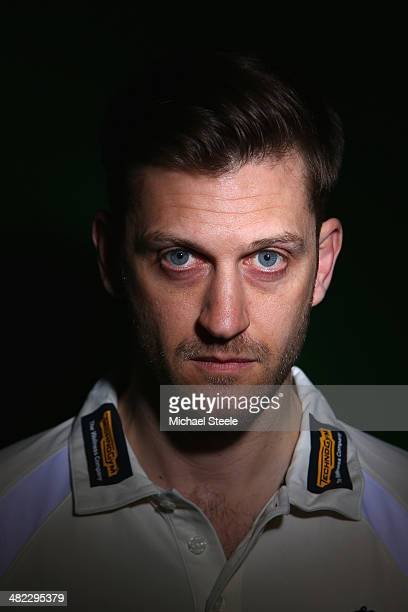 Jim Troughton captain of Warwickshire poses for a portrait during the Warwickshire CCC photocall at Edgbaston on April 3 2014 in Birmingham England