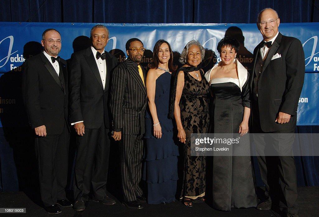 Jim Vella Dan O'Neal Spike Lee recipient of the Humanitarian award Della Britton Baeza Rachel Robinson Dr Sheila C Johnson recipient of the Lifetime...
