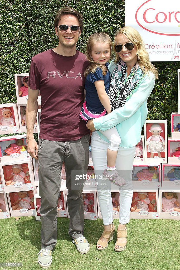Jim Walker, Kate Victoria Walker and Brooke Anderson attend the Corolle Adopt a Doll Event at The Grove on May 18, 2013 in Los Angeles, California.