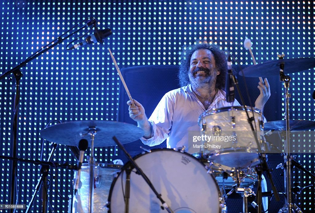 Jim White (drummer in the Dirty Three) performs on stage with Cat Power at the Pyramid Rock Festival on 30th December 2009 in Phillip Island, Australia.