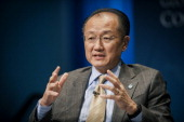 Jim Yong Kim president of the World Bank Group speaks during the 31st Annual Meeting of the Bretton Woods Committee at the World Bank Headquarters in...