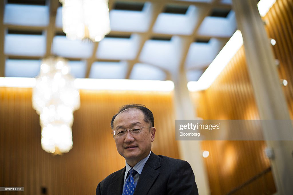 <a gi-track='captionPersonalityLinkClicked' href=/galleries/search?phrase=Jim+Yong+Kim&family=editorial&specificpeople=2302483 ng-click='$event.stopPropagation()'>Jim Yong Kim</a>, president of the World Bank, sits for a photograph following an interview at the organization's headquarters in Washington, D.C., U.S., on Wednesday, Jan. 9, 2013. The World Bank can make a difference in areas such as climate change, education and health, Kim said, as he crafts a strategy for the poverty-fighting lender. Photographer: Drew Angerer/Bloomberg via Getty Images