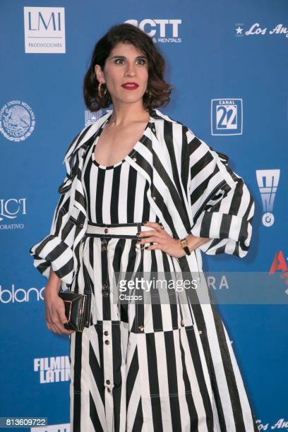 Jimena Ayala poses during during the 59th Ariel Awards Red Carpet at Palacio de Bellas Artes on July 11 2017 in Mexico City Mexico