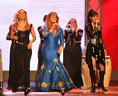 Jimena Gallego Jenni Rivera and Graciela Beltran during El Premio de la Gente Latin Music Fan Awards 2005 Show at The Forum in Los Angeles California...