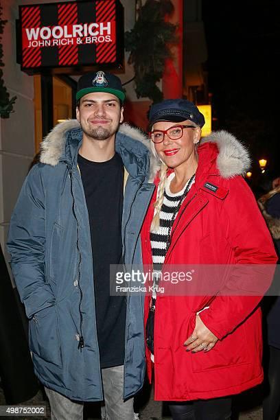 Jimi Blue Ochsenknecht and Natascha Ochsenknecht attend the Woolrich Store Opening on November 25 2015 in Berlin Germany