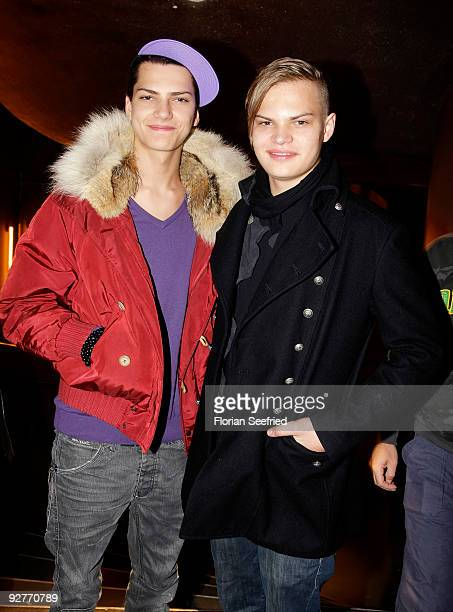 Jimi Blue Ochsenknecht and Wilson Gonzalez Ochsenknecht attend the GShock 25th anniversary party 'Shock The World' at Admiralspalast on November 4...
