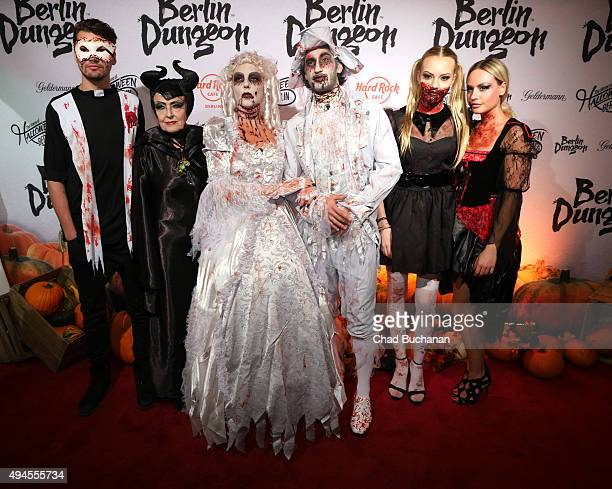 Jimi Blue Ochsenknecht Baerbel Wierichs Natascha Ochsenknecht Umut Kekilli and Cheyenne Savannah Ochsenknecht attend the Halloween party at Berlin...