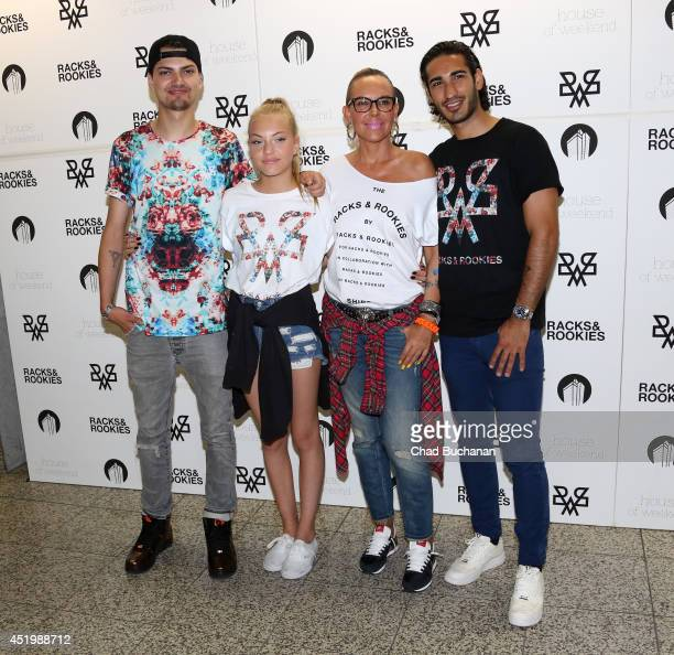 Jimi Blue Ochsenknecht Cheyenne Ochsenknecht Natascha Ochsenknecht and Umut Kekilli attend the 'Racks Roockies' launch party on July 10 2014 in...