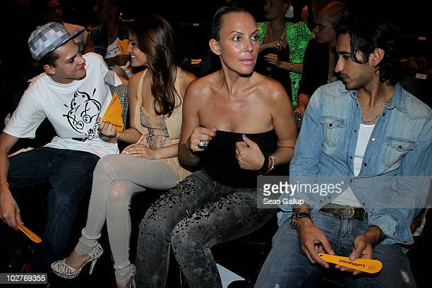 Jimi Blue Ochsenknecht his grilfriend model Joana his mother Natascha Ochsenknecht and her boyfriend pro soccer player Umut Kekilli attend the...