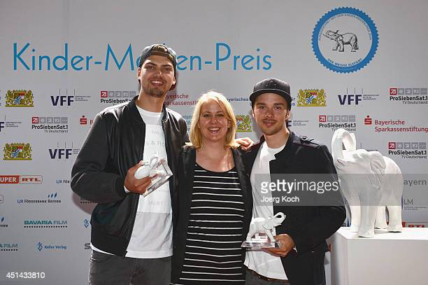 Jimi Blue Ochsenknecht Mitja Lafere and Anke Greifeneder attend 'DER WEISSE ELEFANT' Event at Gasteig on June 29 2014 in Munich Germany They were...