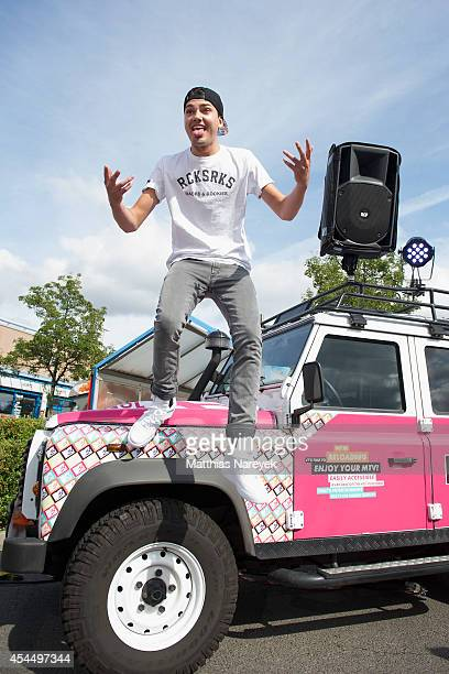 Jimi Blue Ochsenknecht poses during a photo call for his tour as DJ Brando on September 2 2014 in Berlin Germany