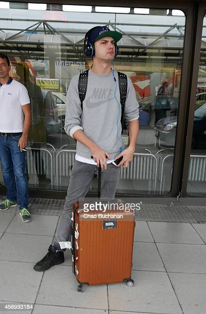 Jimi Blue Ochsenknecht sighted at Tegel Airport on October 10 2014 in Berlin Germany