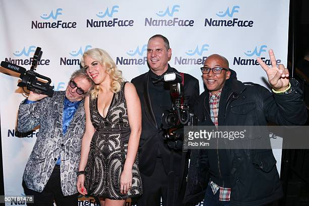 Jimi Celeste Daniela Kirsch Steve Eichner and Bennett Raglin attend the launch party for NameFacecom at No 8 on January 27 2016 in New York City