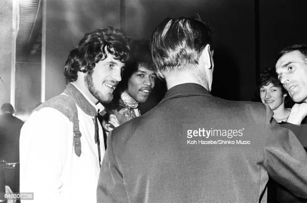 Jimi Hendrix Jim Capaldi and Steve Winwood at Melody Maker Pop Poll Awards Reception Party September 16th 1967