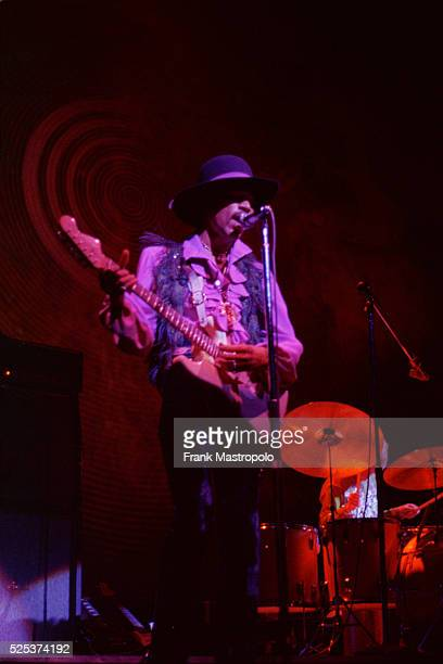 Jimi Hendrix performing at the Fillmore East
