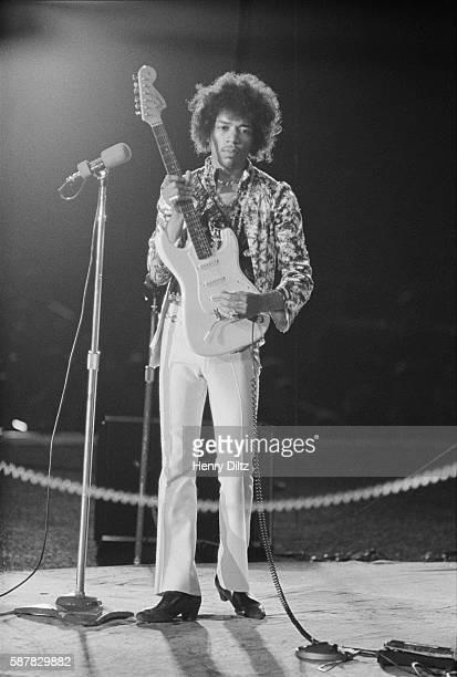 Jimi Hendrix Performing at the Hollywood Bowl