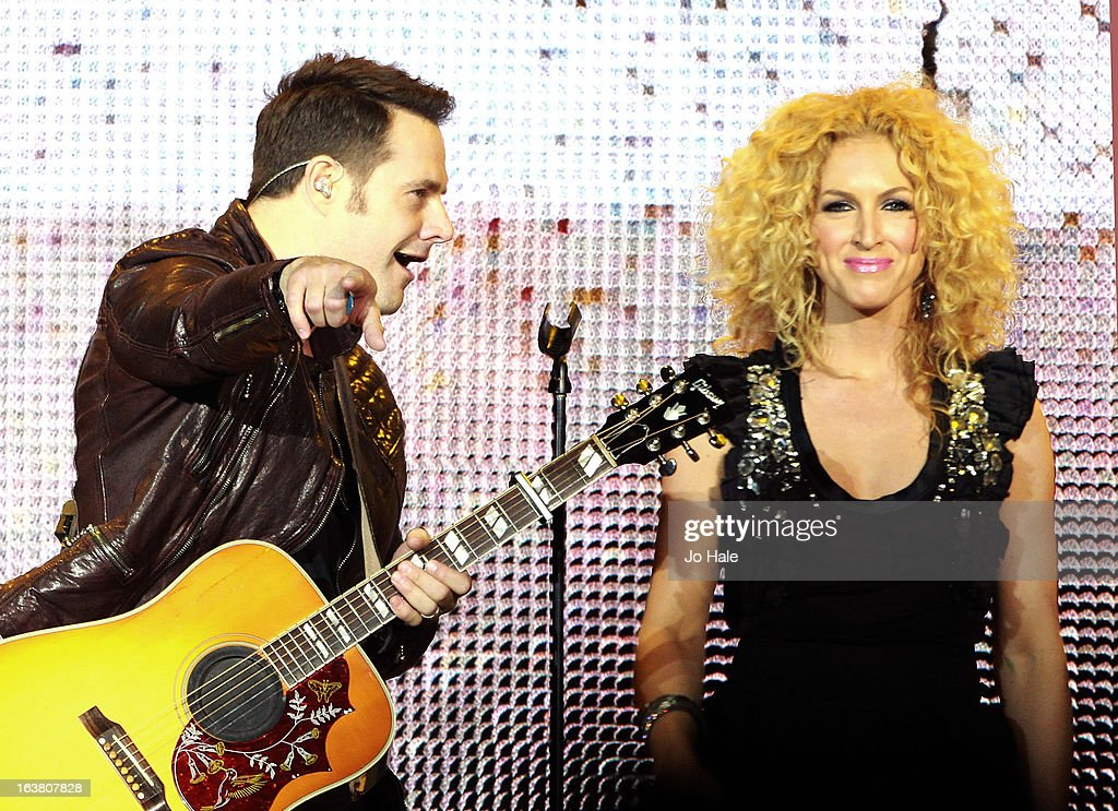 Jimi Westbrook and Kimberly Schlapman of Little Big Town performs on stage on Day 1 of C2C: Country To Country Festival 2013 at O2 Arena on March 16, 2013 in London, England.