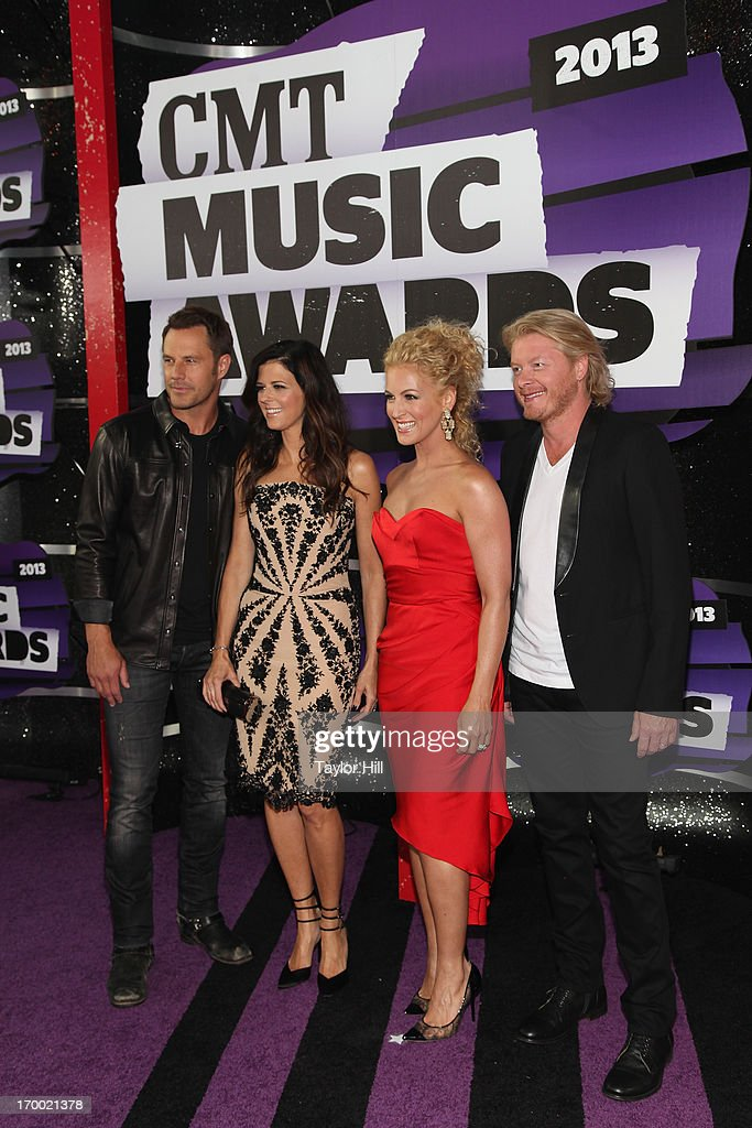Jimi Westbrook, Karen Fairchild, Kimberly Roads Schlapman, and Phillip Sweet of Little Big Town attend the 2013 CMT Music awards at the Bridgestone Arena on June 5, 2013 in Nashville, Tennessee.
