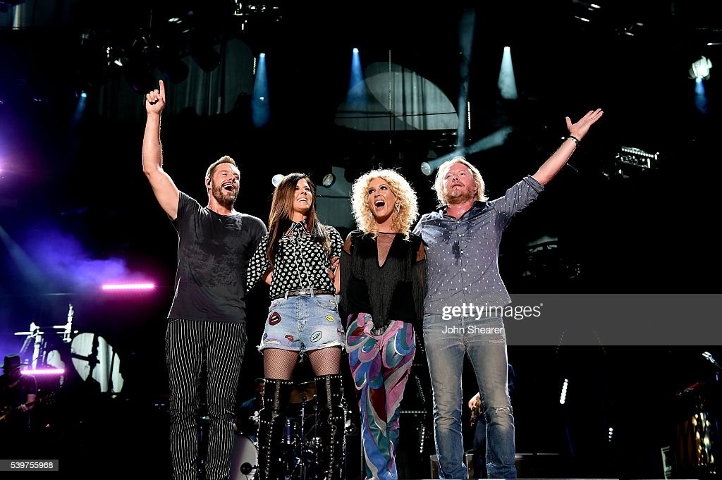Jimi Westbrook Karen Fairchild Kimberly Schlapman and Phillip Sweet of Little Big Town perform onstage during 2016 CMA Festival Day 4 at Nissan...