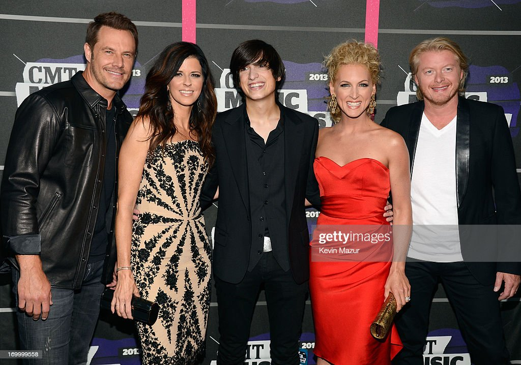 Jimi Westbrook, Karen Fairchild, Matt Toffler, Kimberly Schlapman and Philip Sweet attend the 2013 CMT Music awards at the Bridgestone Arena on June 5, 2013 in Nashville, Tennessee.