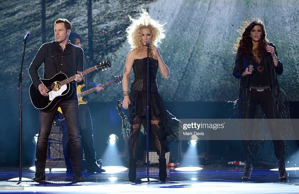 Jimi Westbrook, Kimberly Schlapman, and Karen Fairchild of Little Big Town perform onstage during the 2012 American Country Awards at the Mandalay Bay Events Center on December 10, 2012 in Las Vegas, Nevada.