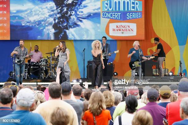 Jimi Westbrook Kimberly Schlapman Karen Fairchild and Philip Sweet of Little BigTown band perform at Rumsey Playfield Central Park on June 23 2017 in...