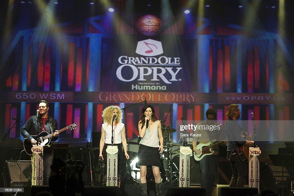 Jimi Westbrook, Kimberly Schlapman, Karen Fairchild and Philip Sweet perform onstage during CRS 2013 on February 27, 2013 at the Grand Ole Opry in Nashville, Tennessee.